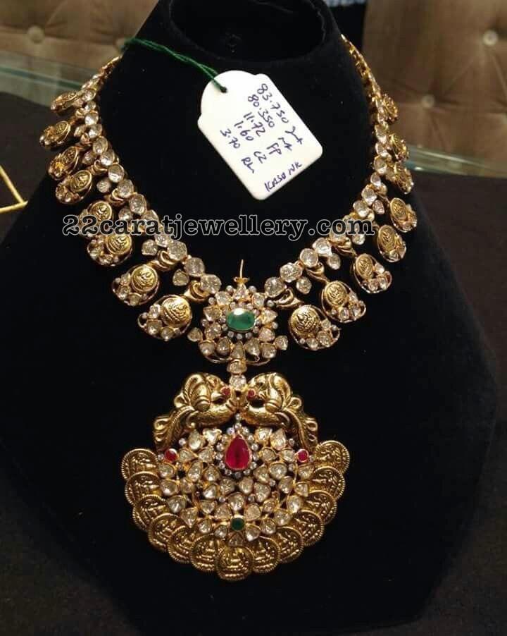Lakshmi Pachi Necklace 93 Grams
