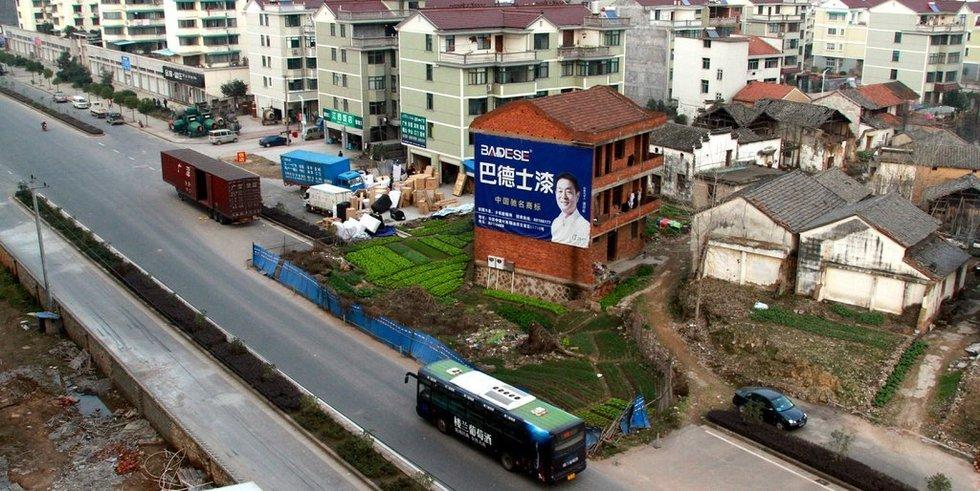 Rumah Paku di Yongji Street, Jinhua, Cina