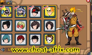 Cheat Anniversary Ninja Saga 3rd | Hairstyle Permanent