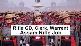 assam rilfe job , gd job , rifle man gd vacancy