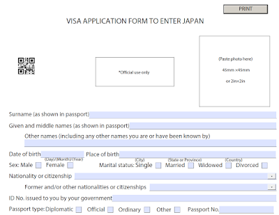 Tư Vấn Học Bổng Du Học Nhật Bản Saromalang Hướng Dẫn điền Form Xin Visa Du Học Nhật Bản 2020 Với Qrcode