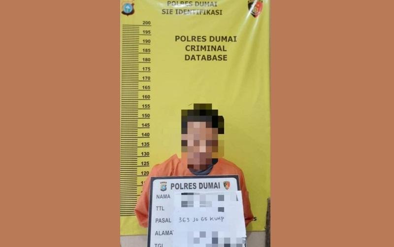 Polsek Dumai Kota Jajaran Polres Dumai Ringkus Pelaku Tindak Pidana Pencurian