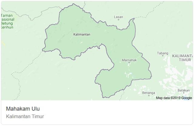Peta Kabupaten Mahakam Ulu HD Tebaru