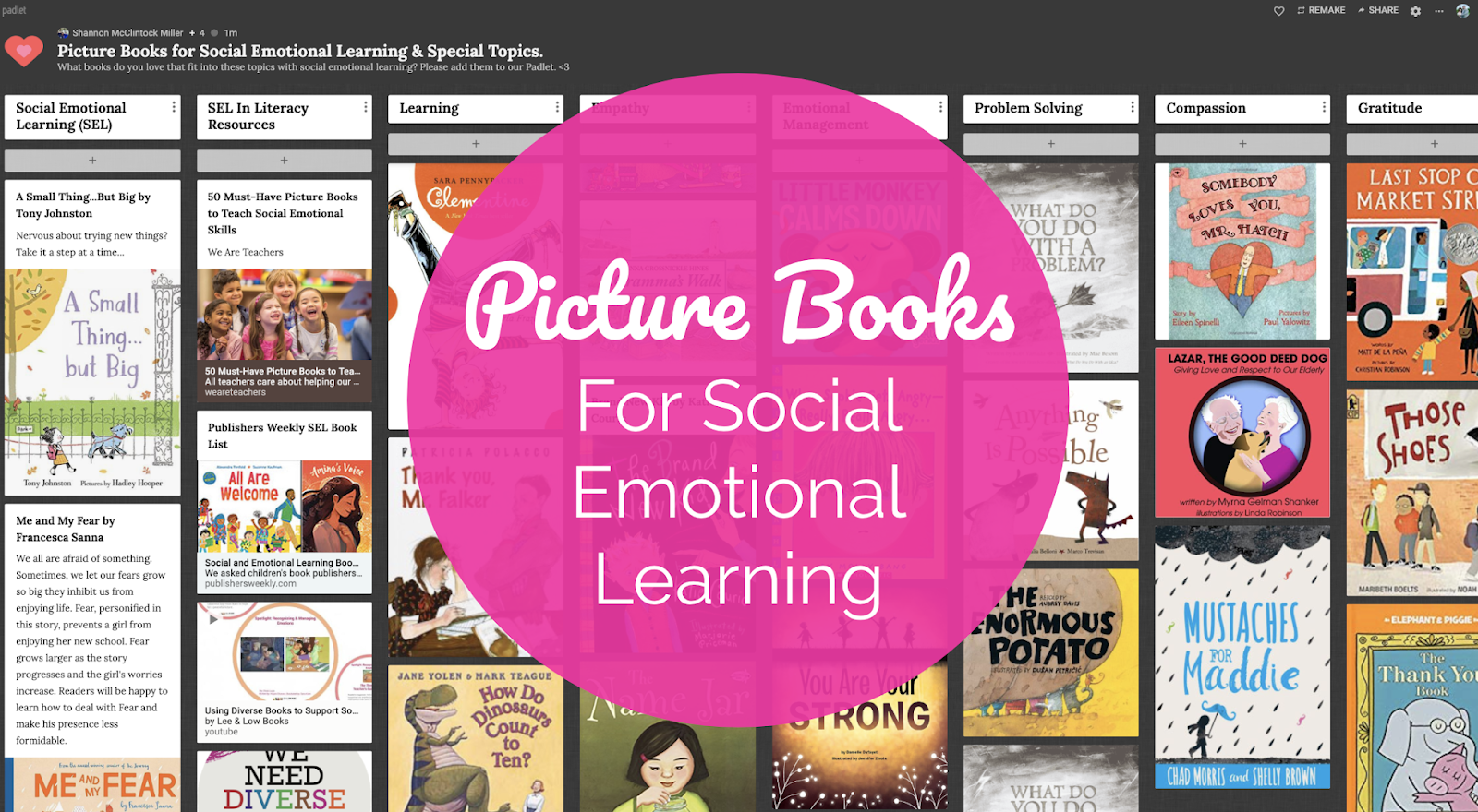 Teacher We Must Teach Emotional >> The Library Voice Picture Books For Social Emotional Learning