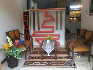 Harga Sekat Partisi Ruang Tamu + Furniture Semarang