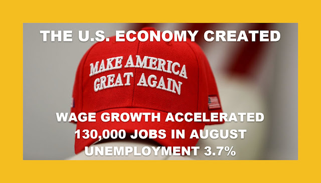 Memes: MAGA: 130,000 JOBS IN AUGUST UNEMPLOYMENT 3.7%