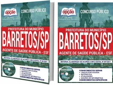 Apostila Prefeitura de Barretos 2017 - Agente de Saúde Pública