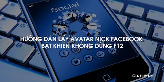 Hướng Dẫn Lấy Avatar Nick Facebook Bật Khiên Không Dùng F12