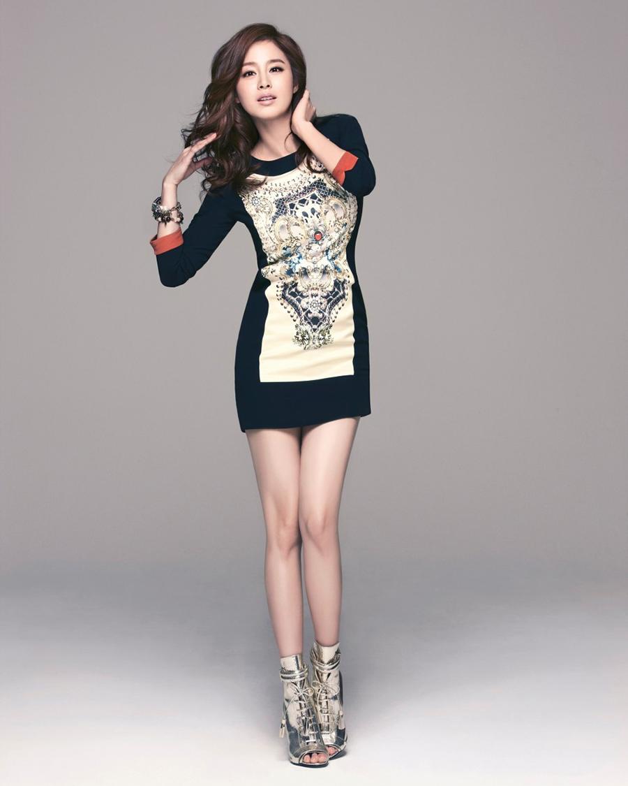 Kim Tae Hee rambut cewek manis