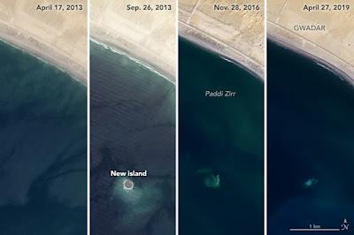 Penampakan Pulau Tenggelam yang Hanya Berumur 6 Tahun
