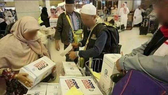 Viral Foto Zamzam #2019GantiPresiden Dibagi ke Jemaah Haji, Ini Respon PPIH