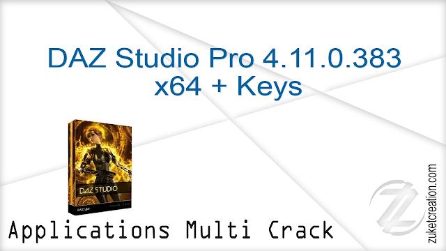 DAZ Studio Pro 4.11.0.383 x64 + Keys   |  622 MB