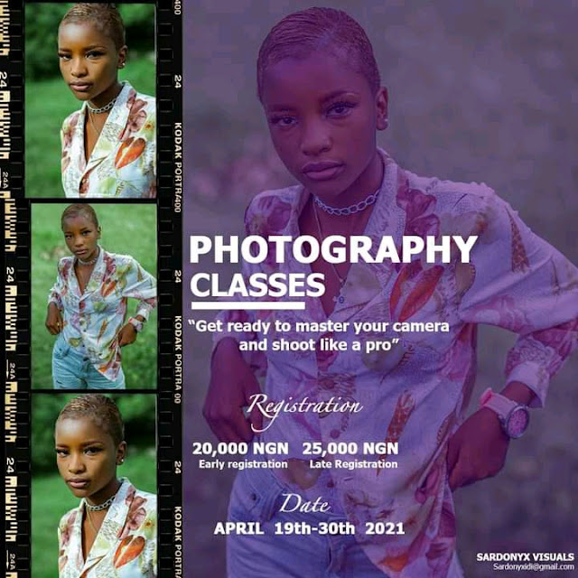 [skill aquisition] How to apply for Sardonyx visual's 'PHOTOGRAPHY CLASSES', 19th - 30th April in jos, plateau state #Arewapublisize