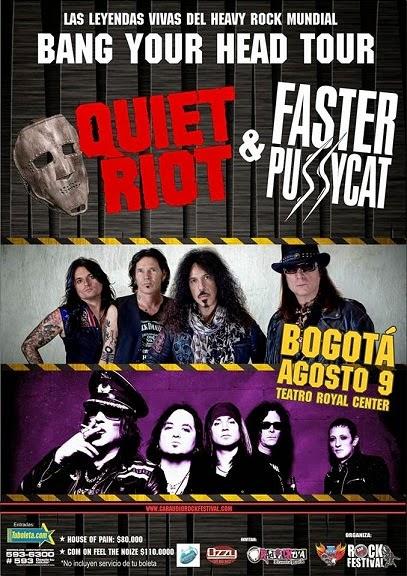 Quiet Riot y Faster Pussycat en Bogotá