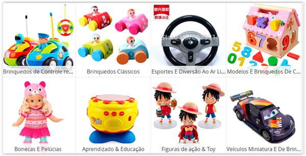 brinquedos da loja Aliexpress