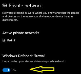 Windows Defender Firewall Enable or Disable in Windows 10