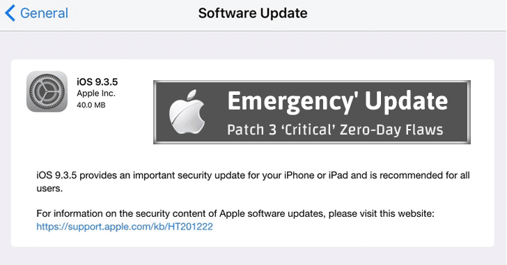 Apple releases 'Emergency' Patch after Advanced Spyware Targets Human Rights Activist