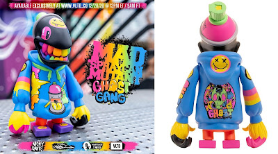 VLTD Exclusive Mad Spraycan Mutant Ghost Gang Edition Vinyl Figure by Nicky Davis x MAD x Martian Toys
