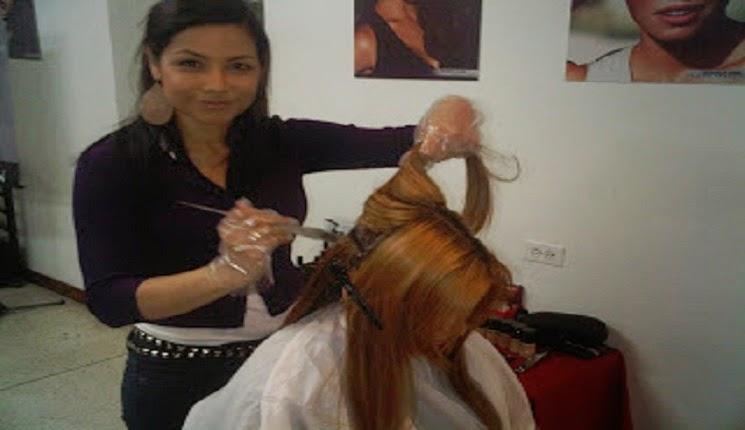 colorando el cabello