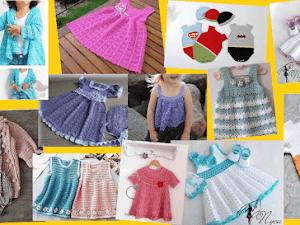 Vestidos para niñas tejidos