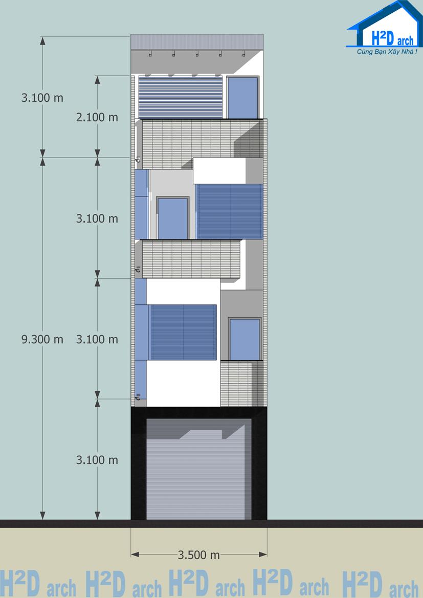 Mẫu+nhà+phố+rộng+3,5m