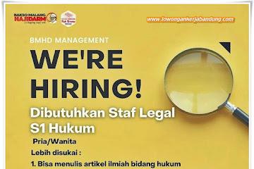 Loker Bandung Staf Legal Bakso Haji Darmo
