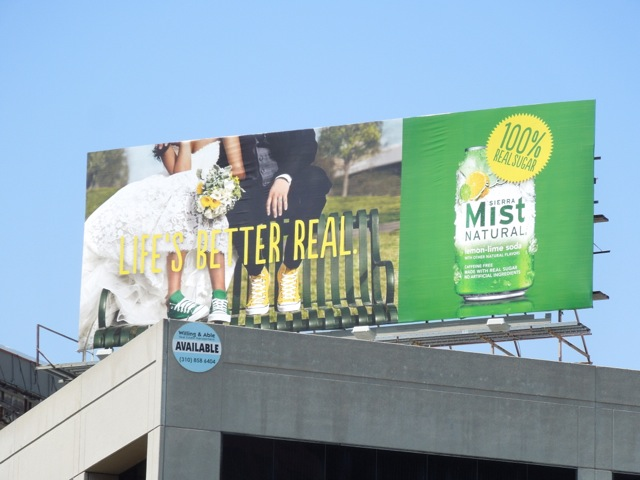 Lifes better real Sierra Mist billboard