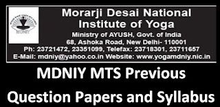 MDNIY MTS Previous Question Papers and Syllabus 2020