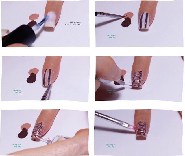 Coffee Nails: Drag marble Nail Art Design Tutorial