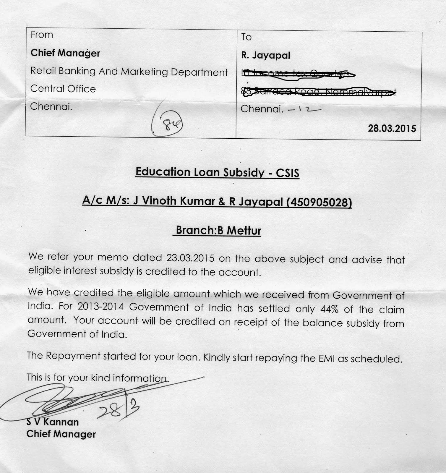 Sample letter of an application to the bank manager to unblock ATM card