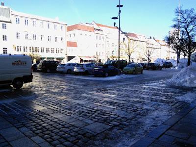 16. Januar 2019, Stadtplatz Traunstein. Kostenlose Parkplätze in der Fussgängerzone