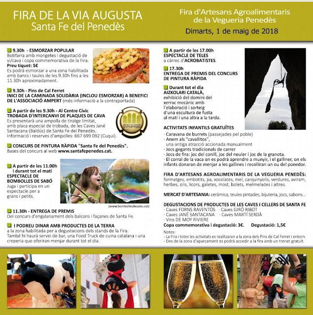 Esguard de Dona - Programa Fira de la Via Augusta a Santa Fe del Penedès - Dimarts, 1 de maig de 2018