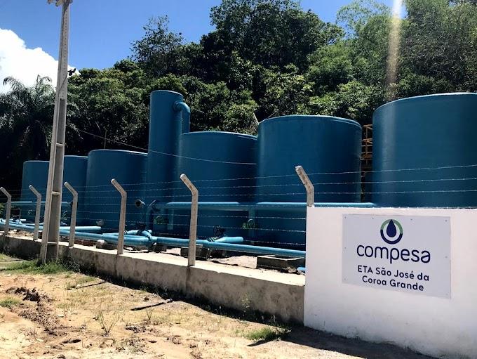 Governo do Estado investe na melhoria do abastecimento de água de São José da Coroa Grande