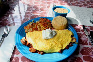 Breakfast omelet special at the Streamliner Diner, Winslow, Washington (Bainbridge Island)