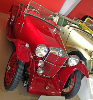 1934 MG PA on display in museum.