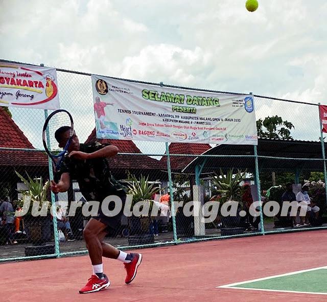 Turnamen Tenis SATPOL PP Kabupaten Malang Open II Tahun 2021: Hasil Pertadingan Hari ke 2, Sabtu 6 Maret 2021