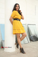 Actress Poojitha Stills in Yellow Short Dress at Darshakudu Movie Teaser Launch .COM 0101.JPG