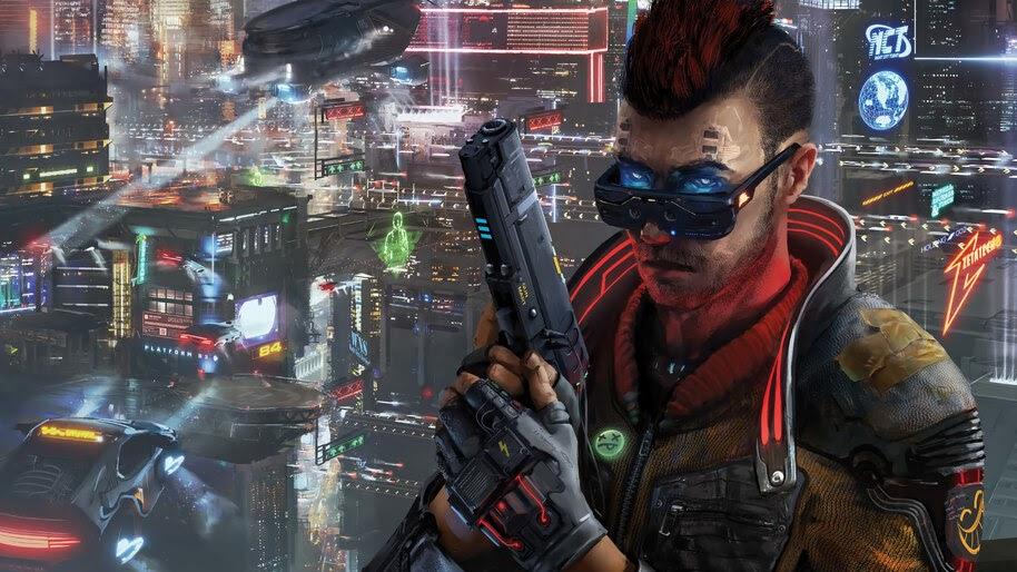 Cyberpunk, City, Pistol, Gun, 4K, #4.962
