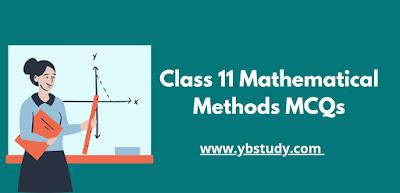 Mathematical Methods MCQs