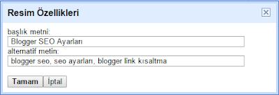 blogger seo, seo ayarları, blogger link kısaltma