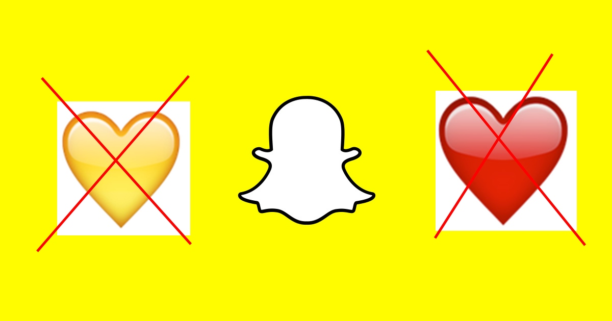 Why Do Yellow Heart Emoji Disappeared On Snapchat Or The Red Heart