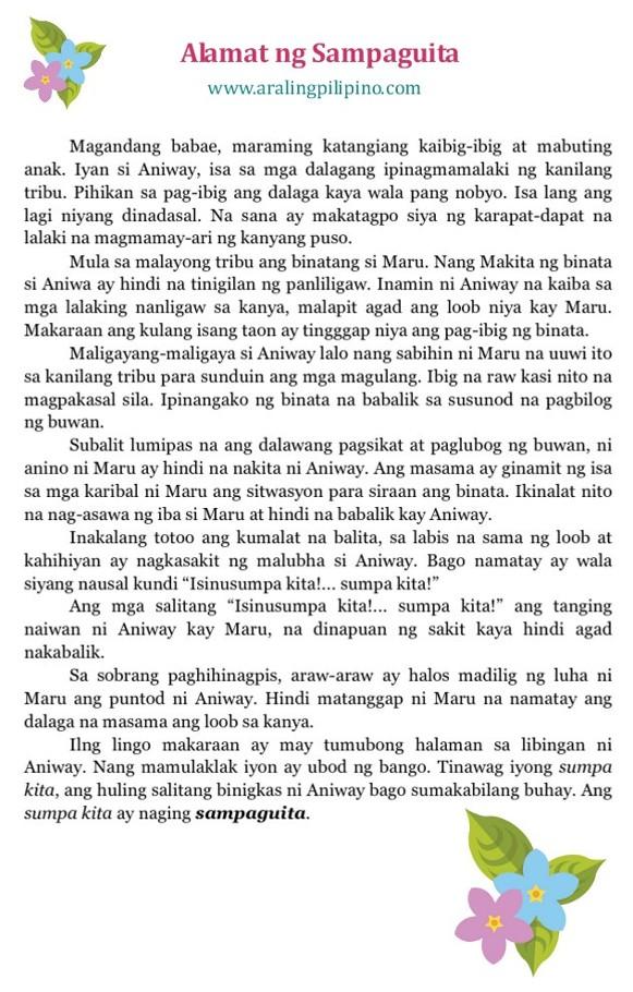 halimbawa ng alamat Ang alamat ng lamok has 184 ratings and 7 reviews jayvie said: lola: kaya mga bata ugaliing maligo araw araw at maglinis ng kapaligiran para hindi kayo.