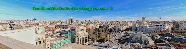 Eastern panorama from Círculo de Bellas Artes, Madrid, Spain