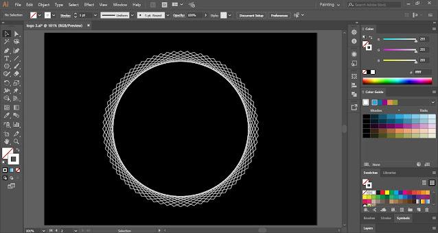 Logo with Geometric Shape in Adobe Illustrator
