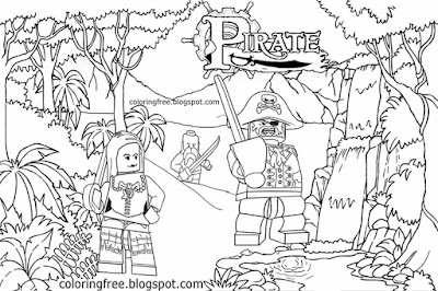 Kids printable actives Pirates of the Caribbean coloring pages Minifigures LEGO Captain Jack Sparrow