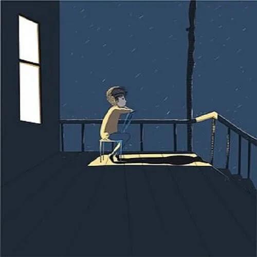 sad and alone boy
