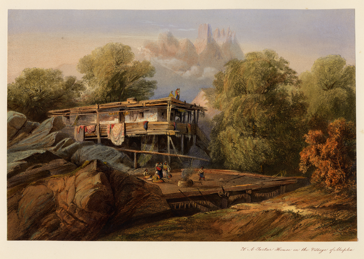 Алупка на картине Карло Боссоли