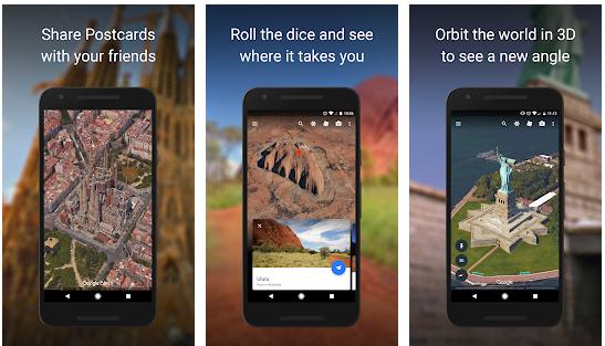 تحميل تطبيق  Google Earth على جوجل بلاي