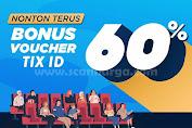 Promo TIX ID DANA Bonus Voucher Dan Cashback 60%