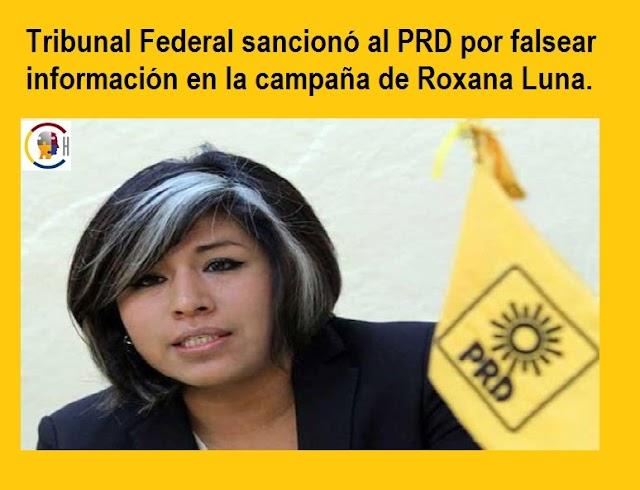 Roxana Luna y PRD falsearon información para dañar reputación